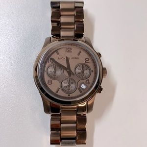 MICHAEL KORS chocolate steel bracelet WATCH
